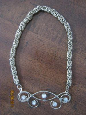Wire Flourish Wire Necklace
