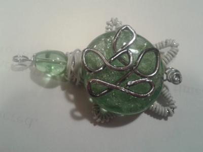 Lil Glass Turtle Pendant
