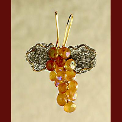 Grape Cluster Pendant - Hessonite Garnet